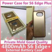 Wholesale Best Wholesale Power Banks - Power Cases for S6 Edge Plus 4800mAh External Battery Case Best Portable Backup Charger Battery Power Bank Case for Samsung S6 Edge Plus
