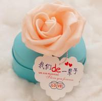 herz geformte süßigkeiten zinn-box großhandel-2016 benutzerdefinierte Karte neue Liebe Zinn Süßigkeiten Box Herz-förmige stieg Süßigkeiten Box Anzug 2 FERRERO ROCHER / 8 UHA