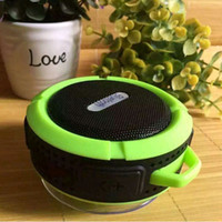 Wholesale Outdoor Sports Center - Outdoor wireless Speaker C6 Sports Portable Waterproof Bluetooth Speaker Suction Cup Handsfree MIC Voice Box DHL Free