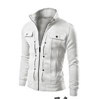 hohe modeoberbekleidung groihandel-Großhandels-Marken-Kleidung 2016 Mens-Sweatshirt-Art- und Weisedickwarme Baumwolldünne männliche Qualitäts-Mantel-Oberbekleidung-Jacken-Trainingsanzüge plus Größe