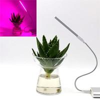 yetiştirilen ışıklar toptan satış-3 W / 14LED Büyümek Işık USB Kırmızı Mavi Topraksız Bitki Büyüyen Işık Çubuğu Masaüstü Bitki Çiçek Büyüyen için DC5V