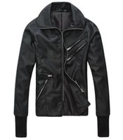 Wholesale uk jacket for sale - Group buy Men in Spring metrosexual leather motorcycle leather coat UK plug part fitted leather jacket Korean singer costumes