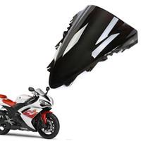 r1 ön cam toptan satış-Yeni Motosiklet Yamaha YZF R1 2007-2008 Için ABS Cam Kalkanı Siyah