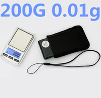 Wholesale Precision Weighing - 200g   0.01g High Precision Digital Electronic LCD Scale Jewelry Weigh Scale Backlight Pocket Scale with Lanyard and holster