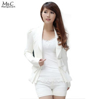 Wholesale Career Jackets - Hot Selling Spring Autumn Women Fashion Big Bowknot Career OL White Slim Suit Coats Jackets Casual Female S,M,L and XL 25