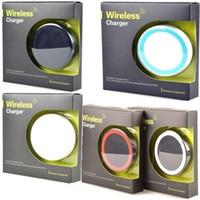 цена зарядного устройства qi оптовых-Лучшая Цена Фабрика Универсальный Ци Беспроводной Зарядки Зарядное Устройство Pad Kit Для iPhone и для Samsung с Розничной Коробке
