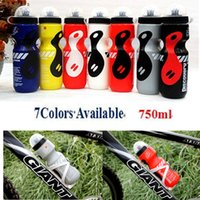 Wholesale Sports Jug Wholesale - Wholesale-Hot Sale Portable Outdoor Bike 750ML Sports Drink Jug Bicycle Water Bottle 7 Colors Available Wholesale Retail Free Shipping!