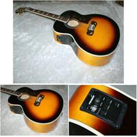 e-gitarre china freies verschiffen großhandel-Custom Shop Vintage 200 Akustische Gitarre Akustische Elektrische Gitarre China Fabrik Kostenloser versand