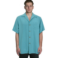 Wholesale Vintage Silk Shirt Xl - Wholesale-Europe bahama Men silk short sleeve shirts vintage loose plus big size