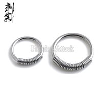 Labret, Lip Piercing Jewelry spring wire jewelry - 2016 New Style Steel Spring Wire Captive Ring BCR Body Piercing Jewelry Lip Larbret