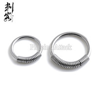 Wholesale Spring Steel Wire Wholesalers - 2016 New Style Steel Spring Wire Captive Ring BCR Body Piercing Jewelry Lip Larbret