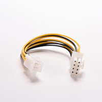 Wholesale 12v Power Cable Connector - Wholesale- 7.8'' New ATX 12V 4 Pin Male to 8 Pin Female M F PC Computer CPU Power Cable Connector