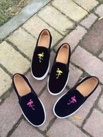 Wholesale Fuji Media - (superior quality) Bing Xu leather shoes embroidered Flamingo Fuji loafer rabbit lovers Liu Wen, Luhan with money