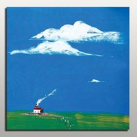 Wholesale Modern Paintings For Sale Cheap - Cheap price simple wall abstract painting modern landscape canvas art from China Home Decoration for sale online