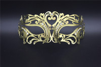Wholesale White Women Masks - 2016 new fine Luxury Diamond Woman Masks On Sexy Eyeline Masquerade Party Mask Sequin Lace Edge Lateral Flower Gold Silver Black White Color