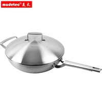 Cheap Wholesale-MADERTC stainless steel steamer cooking wok no fumes from cooking pot 32 cm 304 cookware steamer cooking pot