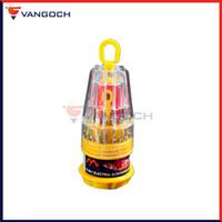 magnetischer handy-schraubendreher-set großhandel-A + Für die Gadget-Enthusiasten Handy-Reparatur-Tools 31 in 1 Präzisionsmagnet-Schraubendreher-Set mit rutschfestem Gummigriff