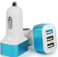 Universal 3USB Port Car Charger 2.1A 1A Power Adapter para ipad iphone 6 plus 5 Samsung S4 S5 HTC DHL grátis CAB118
