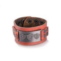 bracelet style rue achat en gros de-Hot bracelets bracelet en cuir cadeau de Noël cool street style bijoux hip-hop millésime de bonne qualité livraison gratuite