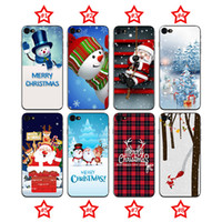Wholesale Christmas Phone Cases - TPU Painting Christmas Phone Case for Samsung Huawei Back Covers Shell Cell phone Carton Cases Covers for iphone X 8 7 6 6s 5 5s SE OPP Bag