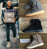 Unisex split bag - TOP Boost Glow In The Dark Kanye West Leather Ankle Boots Men s Sport Running Shoes With receipt laces dust bags boxes