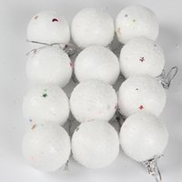 Wholesale Snowball Christmas Tree Ornaments - 6pcs Pack 2016 Hot Christmas Tree Hanging snowball Party Decoration Ornaments Xmas Decor Gift