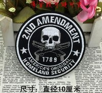 Wholesale Sew Skull Patches - Marine Corps embroidered patches Iron On Patch Skull and Bones Made of Cloth Guaranteed punk Appliques sew on patch Poker