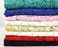bordado bordado dimensional venda por atacado-2019 Encantador de Alta Qualidade 8-Cor 3D-Solúvel Tecido de Renda Africano Veneza de Alta Dimensional Flor Bordado Oco Vestido de Perfil Criança 1181