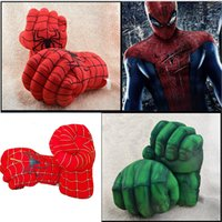 Wholesale Spider Man Gloves - wholesale Boxing hulk creative cartoon spider-man toy gloves fist hand accidentally knuckles 1pair