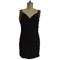 vestidos de festa venda por atacado-Nova Chegada Bainha Scoop Cap Luva de Cristal Frisado Curto Partido Dresse Party Designer de Cocktail Vestidos 2018
