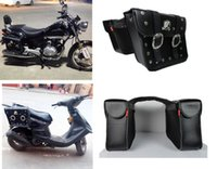 Wholesale Fashion x universal Motorcycle PU Leather Saddlebags Left Right Saddle Pouch Side Bag Storage For HARLEY Chopper