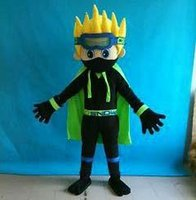Wholesale Shirt Ninja For Boy - SX0727 Light and easy to wear a ninja boy mascot costume with black shirt for adult to wear