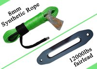 """Wholesale Boat Winches - Wholesale-8mm*30m Synthetic Rope with 10"""" Hawse Fairlead,Synthetic RoATV Winch Contactor,Boat Winch Cable"""