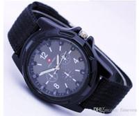 Wholesale Military Logos - 2016 Hot swiss Watch Luxury Mens Military Swiss Army watches logo Nylon Strap Quartz Movement SPORT Wristwatch