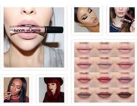 gute lippenglanz großhandel-2019 HOT NYX Lip Dessous Flüssigkeit Matte Lip Cream 12 Farben Lippenstift NYX Charming langlebige Marke Make-up Lippenstifte Lipgloss GUTE Qualität