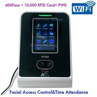 Wholesale Touch Screen Time Attendance - 100,000 Log Capacity Touch screen WIFI Facial Recognition Time Attendance wtih Access Control PC Software Linux ZK VF560 VF780