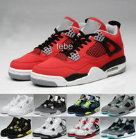 Wholesale Cheap Hot Shoes Online - Free Shipping Basketball Shoes Cheap Top Quality Retro 4 Oreo fear Cement Sneaker Sport Shoe,For Online Hot Sale Size 8 - 13