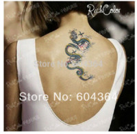 Wholesale Rub Transfers Sticker - ree ship 5pcs lot HM062,stickers tatoo arm,waist,back,chest Dragon with flower,Chinese letter waterproof,Rub-on transfer CE Temporary Tat...