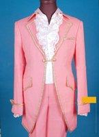 top-qualität neue bräutigam-smoking großhandel-Neue Ankunft --- Neues Design Top Qualität One Button Bräutigam Smoking Groomsman / männer Hochzeitskleid Prom Kleidung (jacke + pants + tie + Gürtel)