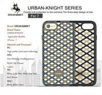 Wholesale Iphone Plastic Perforated - For Iphone 7 Plus 7G I7 7plus Iphone7 Urban Knight Hybrid TPU Hard PC Case Hollow Out Colorful perforated Cellphone Rubber Skin Cover Luxury