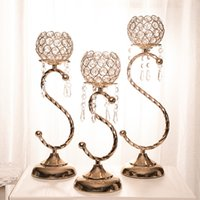 Wholesale Chinese Candle Chandelier - Beautiful Crystal Beaded Candle Holder Gold Votive Candle Holder Wholesale