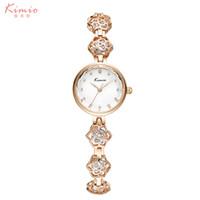 Wholesale Jewel Watch Fashion - Luxury Fashion Ladies Watch 2016 New Kimio Women's Watches Brand Waterproof Jewel Bracelet Strap Colorful Diamond Quartz Watch