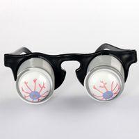 Wholesale Toys For Pranks - Prank Joke Toy Funny Horror Pop Out Eyes Glasses Dropping Eyeball Glasses for Halloween Costume Parties Joke Gift Pop Out Eye Glasses