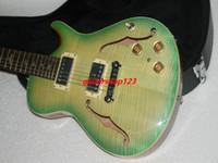 Wholesale Green Electric Jazz Guitar - new arrival + factory custom shop half hollow jazz electric guitar