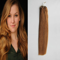 # 8 Light Brown Straight Loop Micro Ring Hair 1g / strand 50s / pack 50g Anel Beads Extensões de cabelo humano Human 4b 4c