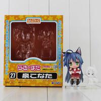 Wholesale Lucky Star Pvc Figures - Japanese Cartoon Lucky star Izumi Konata PVC Action Figure Collectable Model Toy 6-10cm free shipping retail