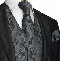 Wholesale Mens Waistcoats Custom - 2017 Three-Coulor Paisley Vest Mens Suit Vest Prom Slim Fit Groom Vests Wedding Waistcoat Mens Dress Vest Custom Made Wedding Vests Designs