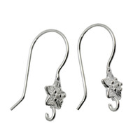 Wholesale Sterling Silver Earring Hooks Solid - Beadsnice Flower Earring Components Solid Sterling Silver Open Loop Earrings French Hook Nice Gift for Her ID 34927