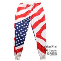 sports time usa - New Pattern Time limited Fashion Regular Gym Clothing Good Quality Men s Trousers d Starry Sky Usa Flag Men Sports Pants