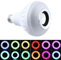 Wholesale Ul Portable Lamp - RGB Control Colorful Music LED Light Bulb Bluetooth Speaker Portable Music Smart RGB Bubble Lamp Wireless Bluetooth Music Lamp